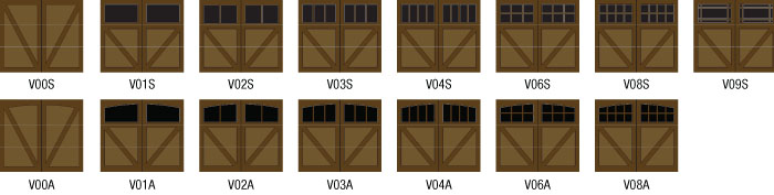 Polaris garage door front: Woodbury