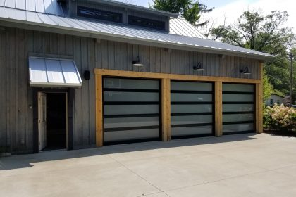 New Modern Hormann Aluminum Garage Door, Union, MI 2
